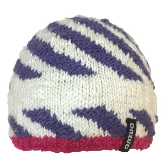 Spiral beanie - White & Purple