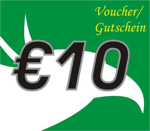 10 Euro Voucher / Gutschein