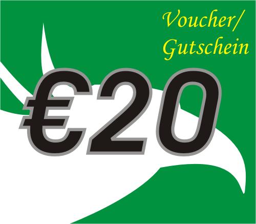 20 Euro Voucher / Gutschein