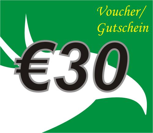 30 Euro Voucher / Gutschein